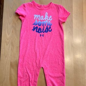 Under Armour Pink Long Pant Romper 18 months